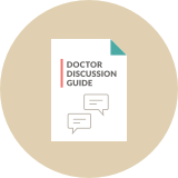 Doctor discussion guide icon.